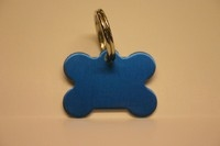 Dog ID tag Bone blue