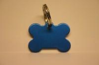 Hundemarke Knochen blau