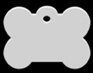 Dog ID tag Bone stainless XL