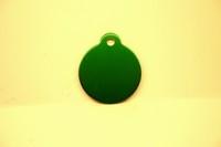 Kattenpenning medaille groen rond 27 mm