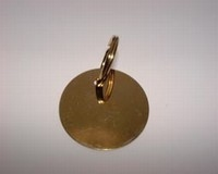 Kattenpenning Medaille rond goudkleur klein