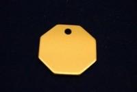 Kattenpenning Oktagon goudkleur