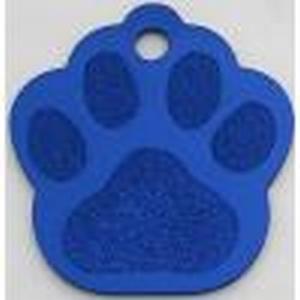 Hundemarke Tatze dunkel blau