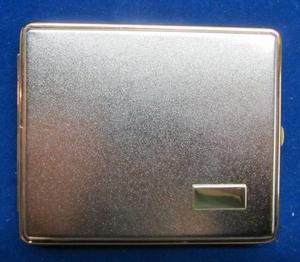Zigarettenetui Metall 20 stück Goldrand SKS