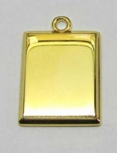 Kettinghanger Rechthoekige hanger goudkleur