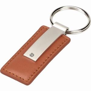 Schlüsselanhänger lederlook Braun