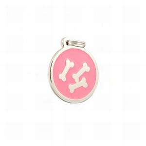 Hondenpenning botje roze