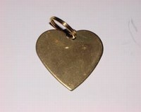 Dog ID tag Heart gold colour