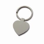 Keychain heart stainless basic