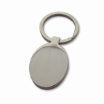 Keychain stainless oval