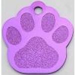 Hundemarke Tatze purple