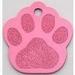 Dog paw ID tag pink