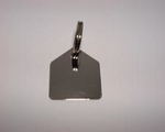 Dog paw ID tag House silver colour