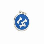 Hondenpenning botje  blauw
